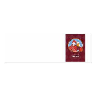 Tarjeta de felicitación nacional del bebedor de ce tarjetas de visita
