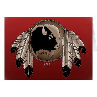 Tarjeta de felicitación nativa de la fauna de la t