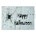 Tarjeta de felicitación negra de la araña