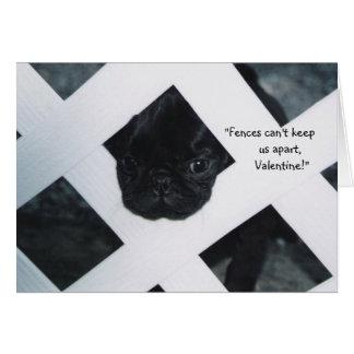 Tarjeta de felicitación negra del el día de San Va