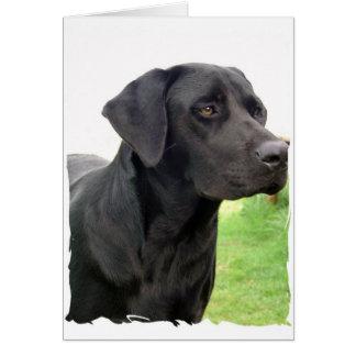 Tarjeta de felicitación negra del labrador retriev