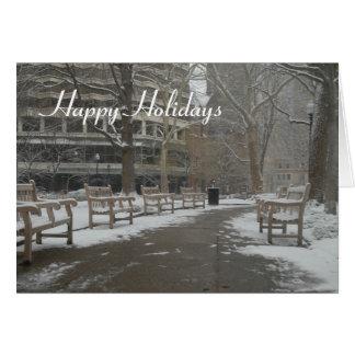 Tarjeta de felicitación nevada del navidad del ban