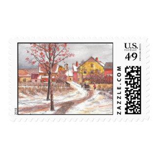 Tarjeta de felicitación noble (12) sello