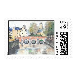 Tarjeta de felicitación noble (3) sellos