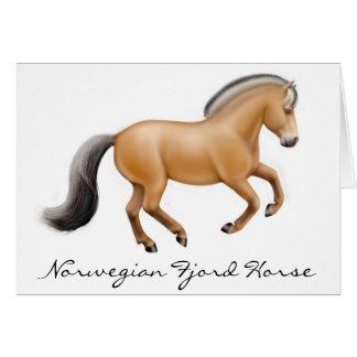 Tarjeta de felicitación noruega del caballo del fi