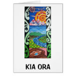 Tarjeta de felicitación - NZ- Kiaora - Arohanui