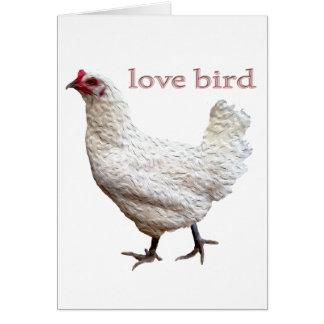 Tarjeta de felicitación oficial del pájaro del amo