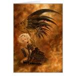 Tarjeta de felicitación oscura del ángel de Steamp