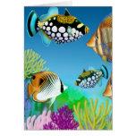 Tarjeta de felicitación pacífica de los pescados d