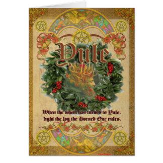 Tarjeta de felicitación pagana de Yule
