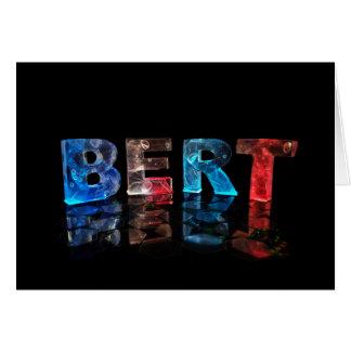 Tarjeta de felicitación para Bert