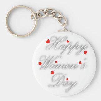 Tarjeta de felicitación para el día para mujer llavero redondo tipo pin