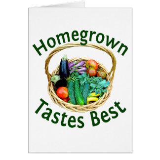 Tarjeta de felicitación para los jardineros vegeta