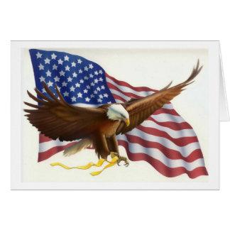 Tarjeta de felicitación patriótica de la bandera