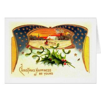 Tarjeta de felicitación patriótica del navidad de