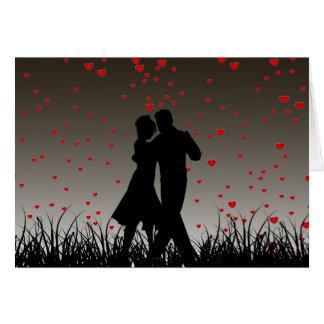 Tarjeta de felicitación pegada amor de la danza