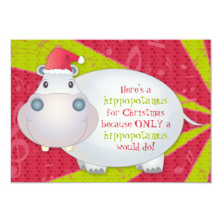 Tarjeta de felicitación personalizada hipopótamo anuncios personalizados