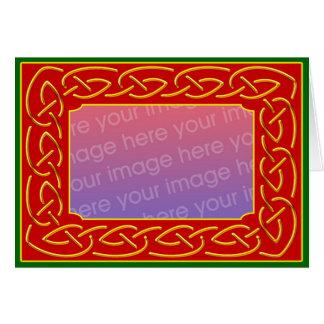 Tarjeta de felicitación personalizada Scrollwork d