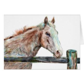 Tarjeta de felicitación pintada del caballo