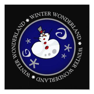 """Tarjeta de felicitación plana del muñeco de nieve invitación 5.25"""" x 5.25"""""""