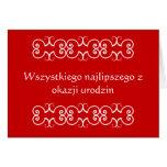 Tarjeta de felicitación polaca del cumpleaños