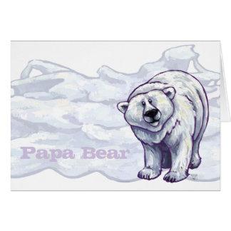 Tarjeta de felicitación polar del oso de la papá
