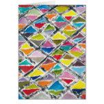 Tarjeta de felicitación por colores felices