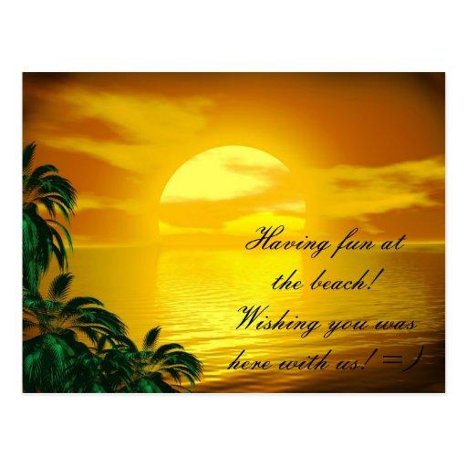 Tarjeta de felicitación: Postal de la playa de la