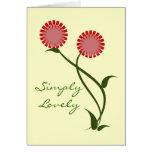 Tarjeta de felicitación preciosa de las floracione