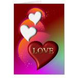 Tarjeta de felicitación preciosa del amor