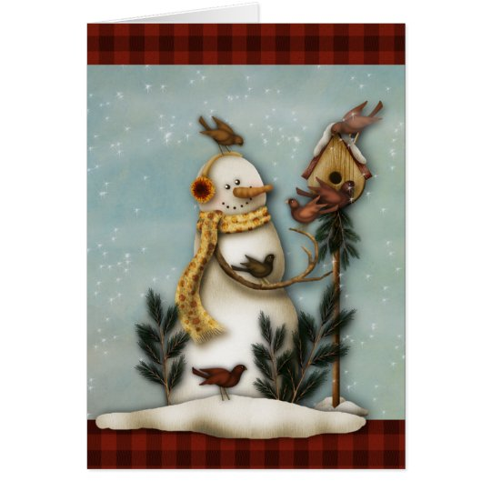 Tarjeta de felicitación primitiva del navidad