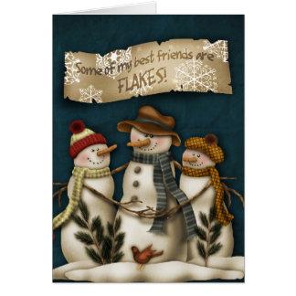 Tarjeta de felicitación primitiva del navidad del