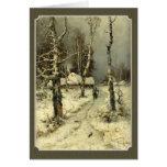 tarjeta de felicitación profunda vieja del paisaje