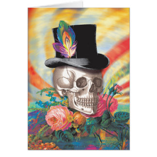 Tarjeta de felicitación psicodélica del sombrero