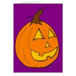 Tarjeta de felicitación púrpura de la linterna del