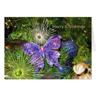 Tarjeta de felicitación púrpura del Año Nuevo del