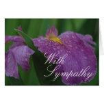 Tarjeta de felicitación púrpura del iris