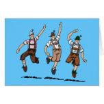 Tarjeta de felicitación que baila a hombres bávaro