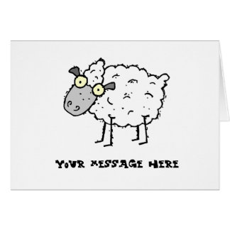 Tarjeta de felicitación que falta de la oveja