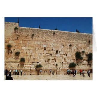Tarjeta de felicitación que ofrece la pared occide