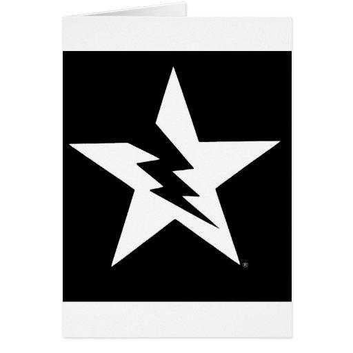tarjeta de felicitación quebrada de la estrella