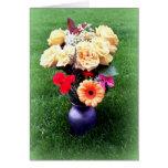 Tarjeta de felicitación: Ramo de flores