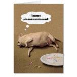 Tarjeta de felicitación rechoncha de la chihuahua