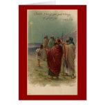 Tarjeta de felicitación religiosa de los pastores