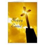 Tarjeta de felicitación religiosa feliz de Pascua