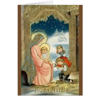 Tarjeta de felicitación religiosa italiana del