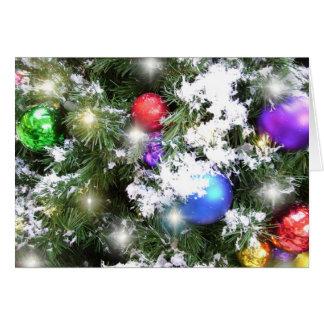 Tarjeta de felicitación - resplandor del navidad y