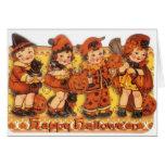 Tarjeta de felicitación retra de Halloween
