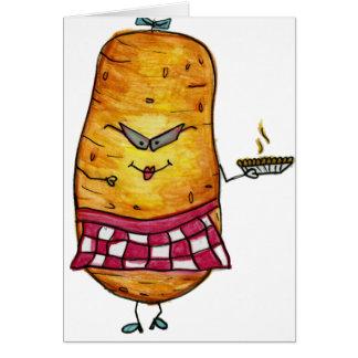 Tarjeta de felicitación retra de la patata
