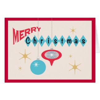 Tarjeta de felicitación retra del navidad